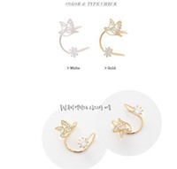 Wholesale Korean super cute earrings Korean version bird without pierced earrings diamond ear clip female earhook ear bones clip