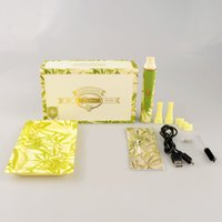 gift box metal - Electronic cigarette Snoop dogg dry herb vaporizer starter kit with Green colors mah gift box package