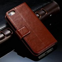 Cheap 2014 New Retro Wallet PU leather case shell for iPhone 5 5S 5g Luxury Vintage With Stand +Card Holder Free Shipping X6069