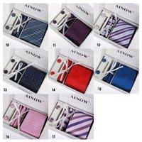 Wholesale HOT Neck Tie Set Men s tie Stock Gift Set Set group business suits tie wedding necktie