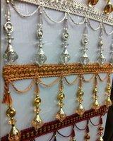 perlas de cristal de alto grado de cortinas de encaje mayor-decorativo del cordón de los granos de las borlas del ojo de gato linterna lob