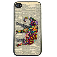 apple dictionary - Elephant On Dictionary Skin Hard Plastic Mobile Phone Case Cover For Iphone S S C Plus