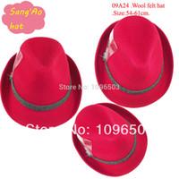 alpine hats - Red wool fedora hat for woman felt alpine new lana formal hat Popular100wool felt wear as festival hat baravois