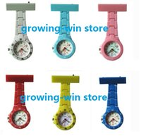 Wholesale 100pcs unisex plastic style nurse watches doctor circle dial Medical Watches With Pin High Quality FOB pocket watches colors