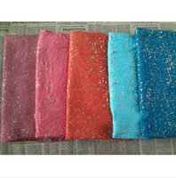 Wholesale Gold Glitter Scarf Shawl Head Wrap Plain Color Long Shawls Muslim Scarves Hijab
