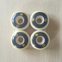 Wholesale Set mm A Skateboard Wheels Radical Wheels for Cruiser Deck White PU Ruedas Patines Aggressive Rodas De Skate