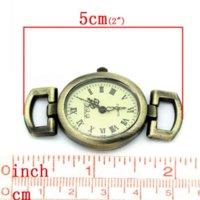 Wholesale Dorabeads Watches Face Fit Bracelet Necklace Oval Antique Bronze x2 cm bronze nameplate watch necklace watch necklace
