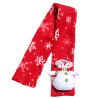 Wholesale New brand Christmas Santa Claus Warm Children winter Scarf for girls boys Scarves Accessory