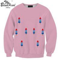 atlas o - Drop shipping Femme Stitch Atlas Printed Women D Sweatshirt Cute cartoon popsicle Man Casual Hoodies Brand Sportwear FG1510