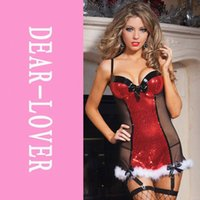bad santa - 2014 Sexy Women Cosplays Bad List Christmas Lingerie Chemise LC7228 santa claus for adults Christmas Party uniform nightclub FG1511