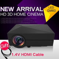 Wholesale Newest Mini Portable LM LED Projector Home Cinema Theater GM60 projektor Proyector Beamer For Video Games TV Movie SD Full HD Projectors