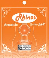 Wholesale Acoustic Guitar String RAPlated Steel and Hexagonal Steel Core Phosphor Bronze Wound SL