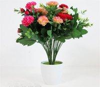 artificial carnations - Silk Carnation cm quot Length Artificial Flowers Clove Carnations Gerbera Flowers Daisy Stems per Bunch for Wedding Centerpiece