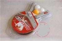 Wholesale pingpong ball with pingpong bat table tennis racket straight and horizon for option
