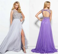 beauty picks - Beauty Beaded A Line Prom dresses Luxury Formal Evening Dress Cap Sleeve Fashion Side Split Style Sexy Backless Party Gowns