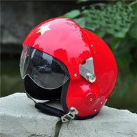 abs battle - Retro and vintage aviator helmets motorcycle helmet battle the field helmets safety top quality full face helmet