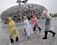 plastic raincoat - Fashion Hot Disposable PE Raincoats Poncho Rainwear Travel Rain Coat Rain Wear gifts mixed colors plastic raincoat YH0015