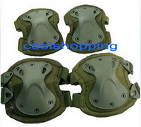 Wholesale 24pcs DHL Tactical X tak Pad knee pads elbow pads set EVA TPU Dnylon Lycra CoolMax