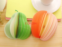 Wholesale Memo Pad Fruit notepad Waterlemon Peach Paper Note Notepad Novelty Mix Style