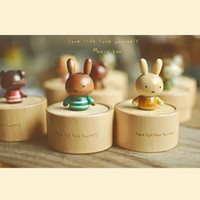 Wholesale New Wooden Merry Go Round cartoon animal Music Box For Kids Wedding Gift Toy with style for children room office