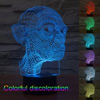 baby changing tables - 3D Table Lamp LED Light Bulbs Cubes Gollum My Baby Modern Lighting Night Lights Plug Led Color Changing Light Colorful Interesting People