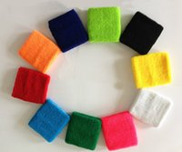 Wholesale Unisex Sports Cotton Wrist Sweatbands Hand Wrap Tennis Badminton Band Color Assorted
