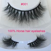 Wholesale Handmade D eyelashes D Horse Hair Eyelashes Fake Eye Lashes soft Eyelash
