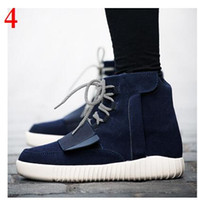 velcro - High and Low Yeezy Boots Mens Kanye West Lace Up and Slip on Sport Velcro Shoes Colours Yeezy Men Flats Sneakers k1641