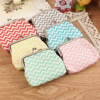 fashion square - High quality Chevron wavy lines coin purse Women fashion wave stripe coin purse Faux Leather zero wallet lovely girl coins purse wallet
