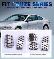 automatic hatchback - Car Stainless Steel metal pedal automatic manual style auto accessories For Chevrolet Chevy Cruze sedan hatchback car styling