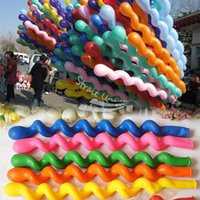 Wholesale New Fashion Pack Giant Rubber Helium Spiral Latex Balloons Wedding Birthday Party Decoration Ballons