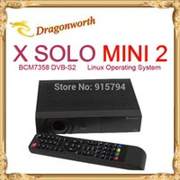 Cheap 2pcs lot Enigma2 Satellite Receiver X Solo MINI2 HD mini vu solo with BCM7358 DVB-S2,x solo mini 2 Free shipping
