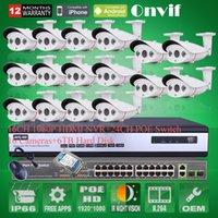 Wholesale 24CH POE Switch TB HDD CH NVR System Kit Onvif P MP HD H Array IR Outdoor CCTV Network POE IP Camera