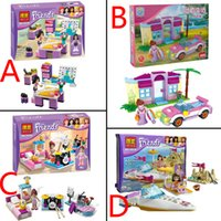 Wholesale 30pcs design bela friends blocks for girl cartoon building blocks educational toys bricks kids baby toy Gift T cheap HX
