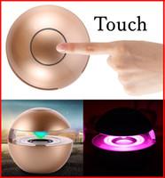 al por mayor altavoz multi touch-Altavoz Bluetooth inalámbrico de control BT118 Mini bola del estilo Touch 3D Surround de altavoces estéreo de LED multicolor luz del flash de manos libres