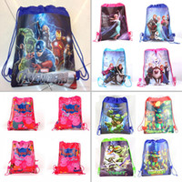 Wholesale 2015 New Avengers frozen ninja Age of Ultron drawstring bags backpacks handbags children school cartoon kids shopping bags Cheap z