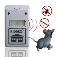 Wholesale 2015 New Riddex Plus Ultrasonic Electronic Pest Control Rodent Mouse Repeller mouse killer mosquito killer shoo banish