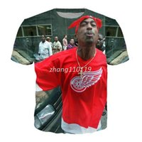 Wholesale tshirts Hip Hop women men T shirt print pac t shirt fashion d t shirt mens Harajuku tee shirts tupac punk short sleeve tops
