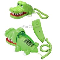 Wholesale Cute Crocodile Design Telephone Home Phone with Movable Mouth