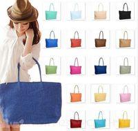 straw beach bag - Ladies Summer Large Straw Bags Woven Tote Shoulder Bag Beach Womens Handbag