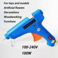 Wholesale 100W Constant Temperature Fabrics Paper Cardboard Ceremics Hot Melt Heating Glue Gun Stick Trigger w Switch