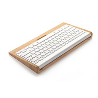 bamboo bluetooth keyboard - Samdi Wooden Bamboo Keyboard Stand Holder Bracket For Apple iMac PC Computer Wireless Bluetooth Keyboard Creative Wood Holder