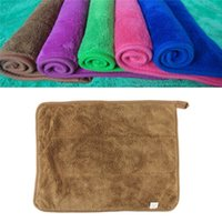 Wholesale Hot Salw Best seller PC Long Plush Microfiber Buffing Dusting Towels Cloth Black Silk Edge Car cleaning Towels clean tools ww