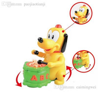2-4 Years abc dog - ABC B O Pluto Walking Doggy Happy Dog Beat Drums Electronic Pets Toys