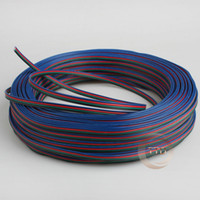 Wholesale m m m m m m AWG pin RGB cable PVC insulated wire Electric cable LED cable Free to choose the number of meters