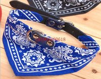 Wholesale Colors Adjustable Pet Dog Cat Bandana Scarf Collar Neckerchief size for choice