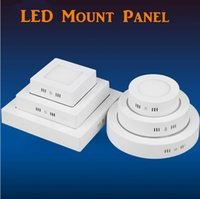 Wholesale Dimmable W W W W Round Square Led Panel Light Surface Mounted Led Downlight lighting Led ceiling downlight AC85 V free shippiing