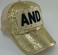 Wholesale 2016 New eras hats baseball Boys and girls peaked cap flat along the hat Hip hop Street dance hats sequins mesh cap ST48