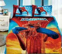 bedroom sets boys - Spiderman bedding sets spider man duvet cover Kids boys bed sheets single twin size bedspread quilt bedroom linen cartoon cotton western