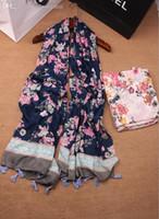 Wholesale best selling NEW printe floral tassels cotton shawls long muslim head wrap Muffler hijab wrap autumn scarves scarf